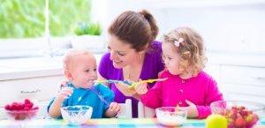 repas chez l'assistante maternelle